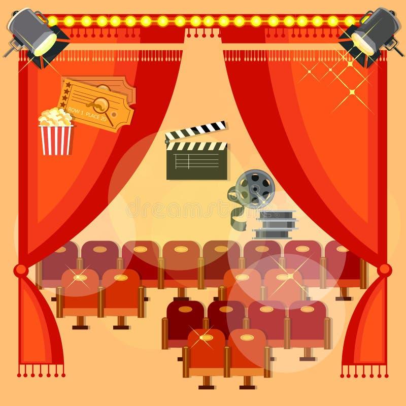 Κινηματογραφική αίθουσα διανυσματική απεικόνιση