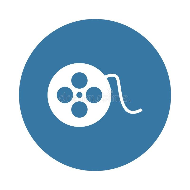 κινηματογραφική ταινία Στοιχείο του εικονιδίου Ιστού στο ύφος διακριτικών απεικόνιση αποθεμάτων