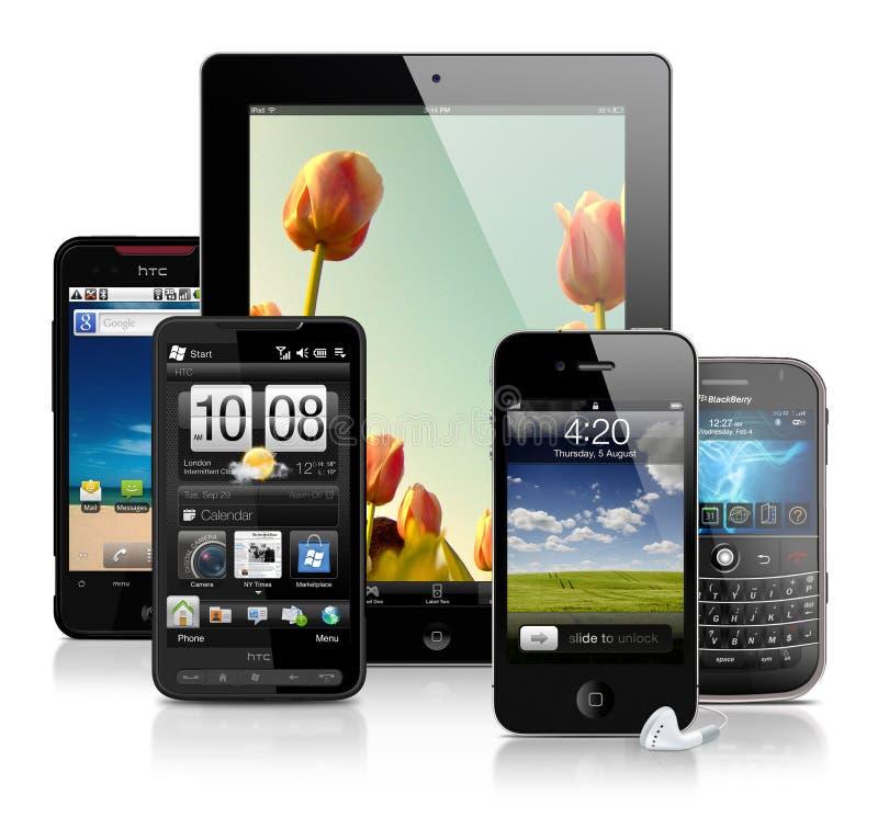 Κινητές συσκευές στοκ εικόνα με δικαίωμα ελεύθερης χρήσης