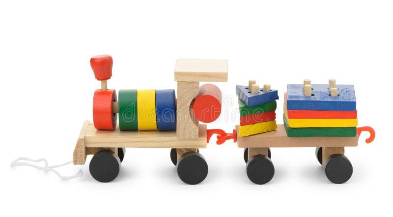 κινητήριο s παιχνίδι ατμού παιδιών ξύλινο στοκ εικόνα