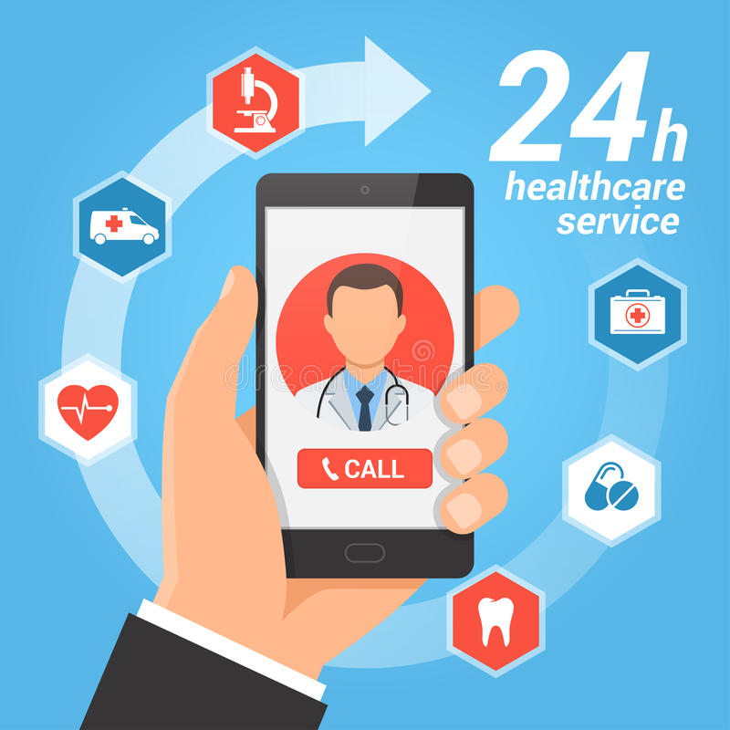 Κινητή έννοια υπηρεσιών υγειονομικής περίθαλψης απεικόνιση αποθεμάτων