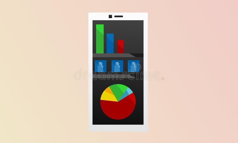 Κινητή επιχείρηση Smartphone στοκ εικόνα