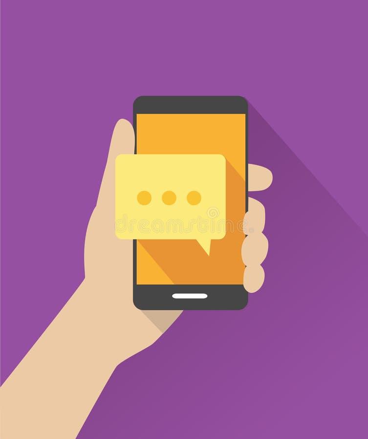 Κινητή εφαρμογή - συνομιλία, μηνύματα ελεύθερη απεικόνιση δικαιώματος