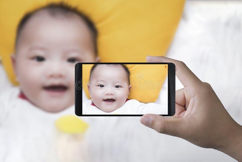 κινητή λήψη φωτογραφιών στοκ εικόνες