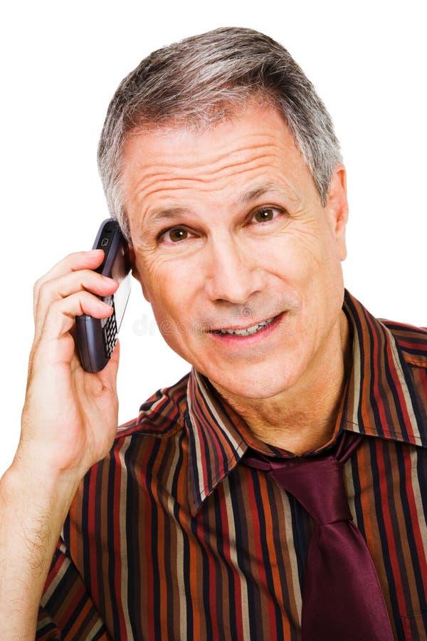 κινητή τηλεφωνική ομιλία &epsilo στοκ φωτογραφία