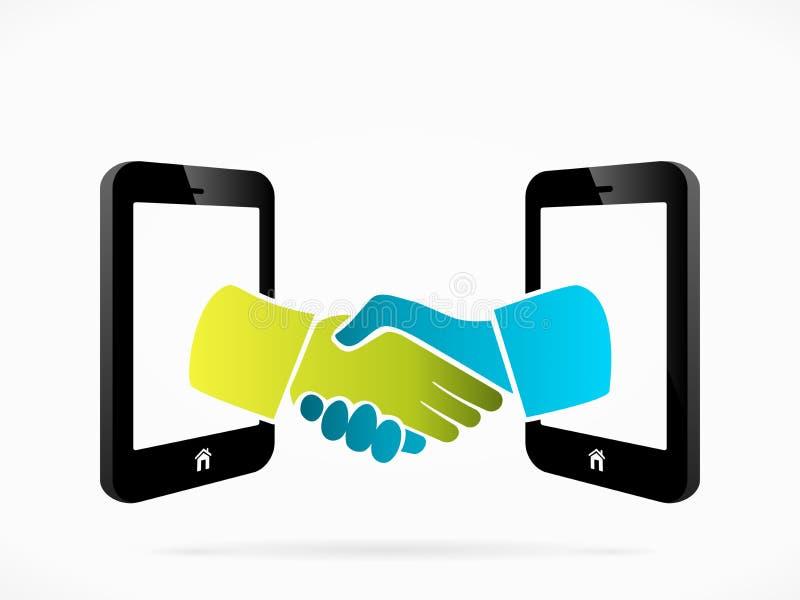 Κινητή τηλεφωνική διαπραγμάτευση απεικόνιση αποθεμάτων