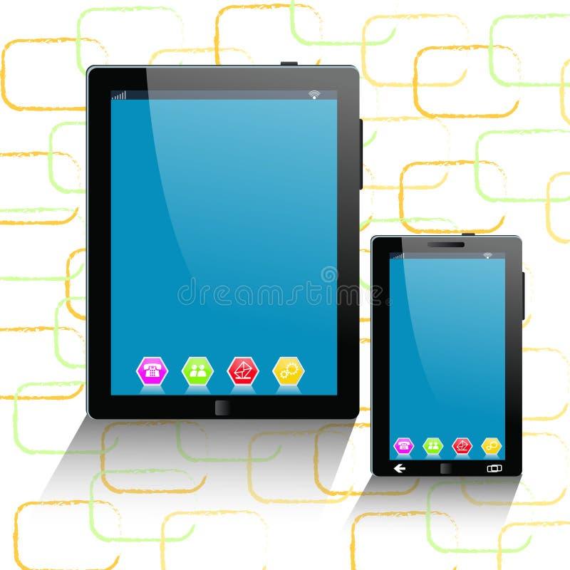 κινητή τηλεφωνική ταμπλέτα υπολογιστών απεικόνιση αποθεμάτων