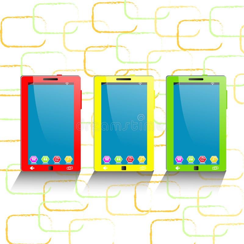 κινητή τηλεφωνική ταμπλέτα υπολογιστών ελεύθερη απεικόνιση δικαιώματος