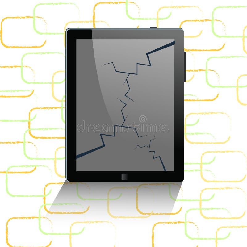 κινητή τηλεφωνική ταμπλέτα υπολογιστών διανυσματική απεικόνιση