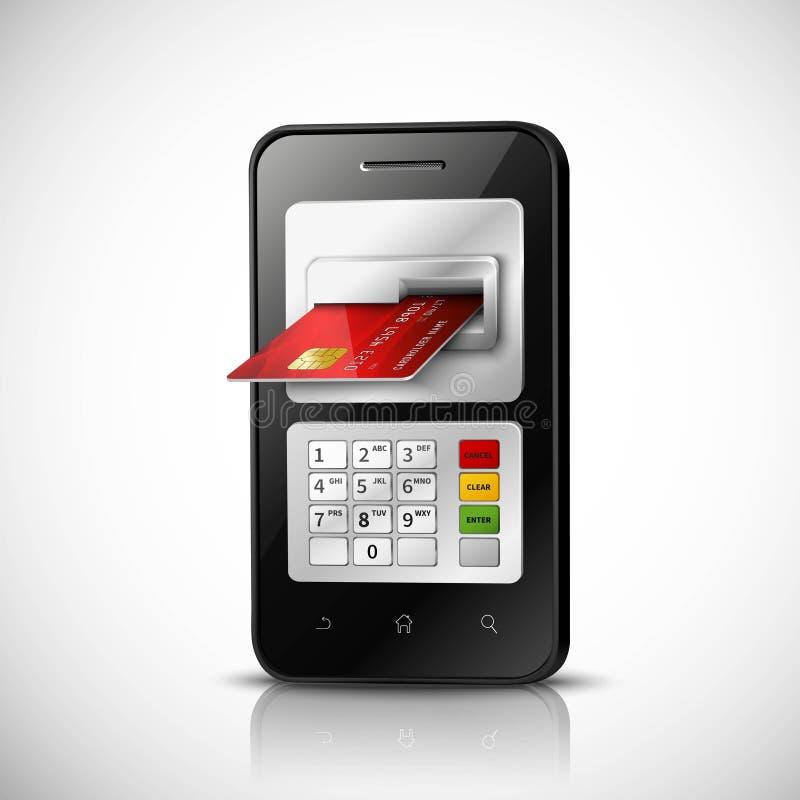 Κινητή τραπεζική έννοια απεικόνιση αποθεμάτων
