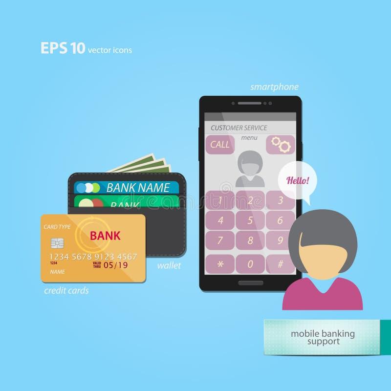 Κινητή τραπεζική υποστήριξη ελεύθερη απεικόνιση δικαιώματος
