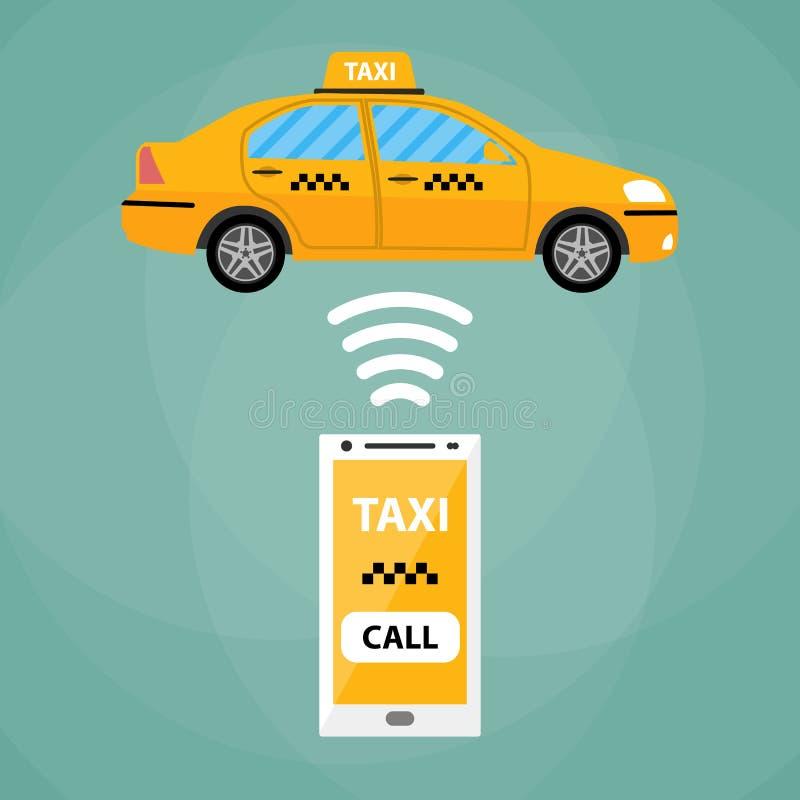 Κινητή app ταξί έννοια απεικόνιση αποθεμάτων