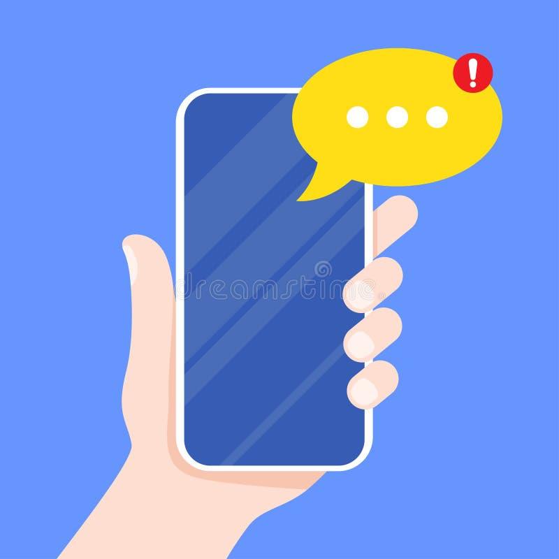 Κινητός αγγελιοφόρος app για τα μηνύματα ελεύθερη απεικόνιση δικαιώματος