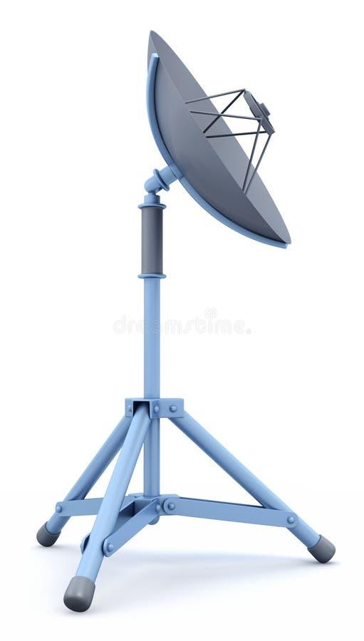 κινητός δορυφόρος πιάτων ελεύθερη απεικόνιση δικαιώματος