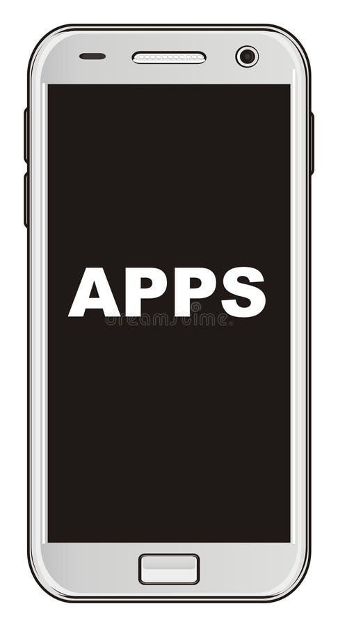 Κινητός και apps διανυσματική απεικόνιση
