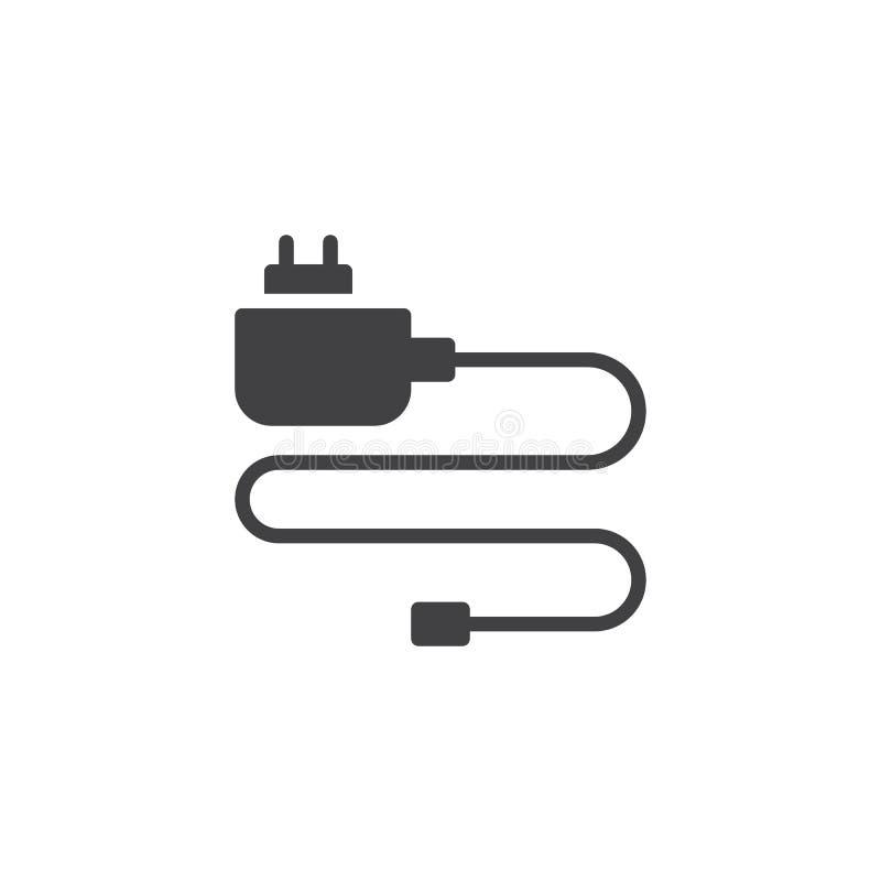 Κινητός τηλεφωνικός φορτιστής διανυσματικό εικονίδιο απεικόνιση αποθεμάτων