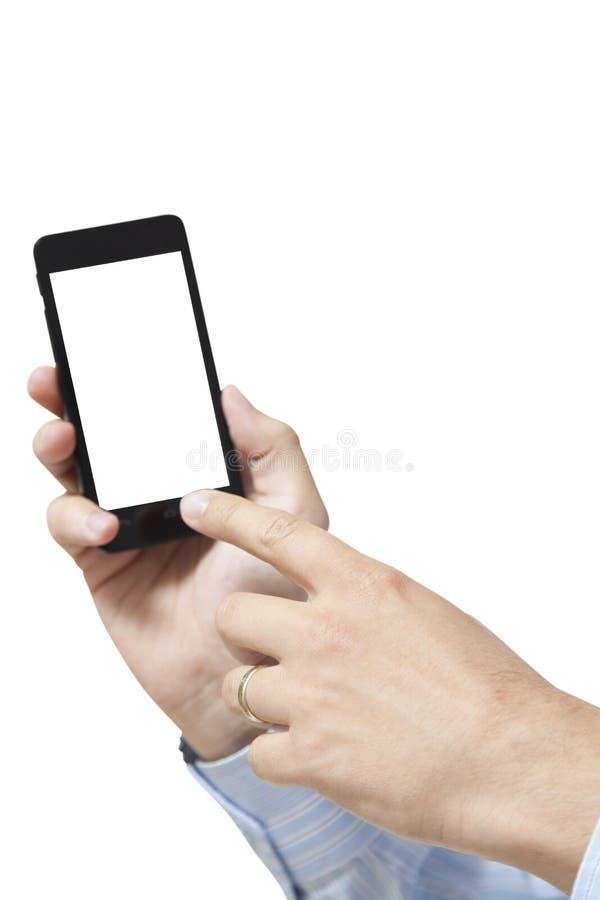 Κινητό έξυπνο τηλέφωνο που απομονώνεται στο λευκό στοκ φωτογραφίες