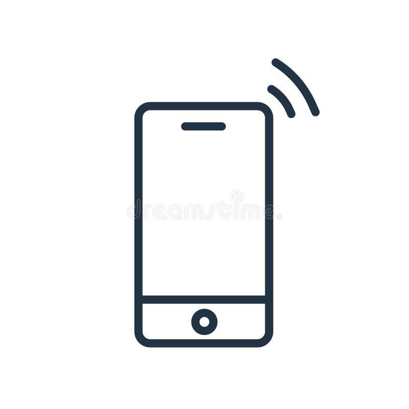 Κινητό διάνυσμα εικονιδίων που απομονώνεται στο άσπρο υπόβαθρο, κινητό σημάδι ελεύθερη απεικόνιση δικαιώματος