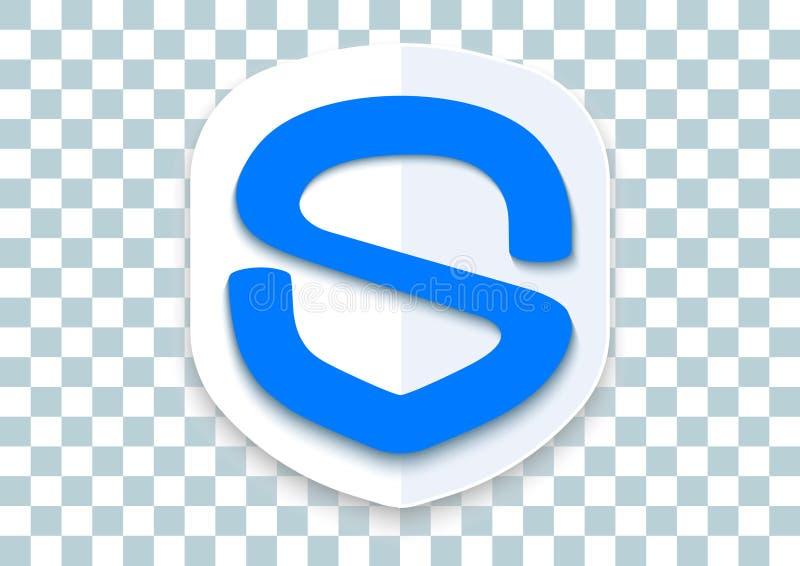 κινητό εικονίδιο ασφάλειας apk διανυσματική απεικόνιση