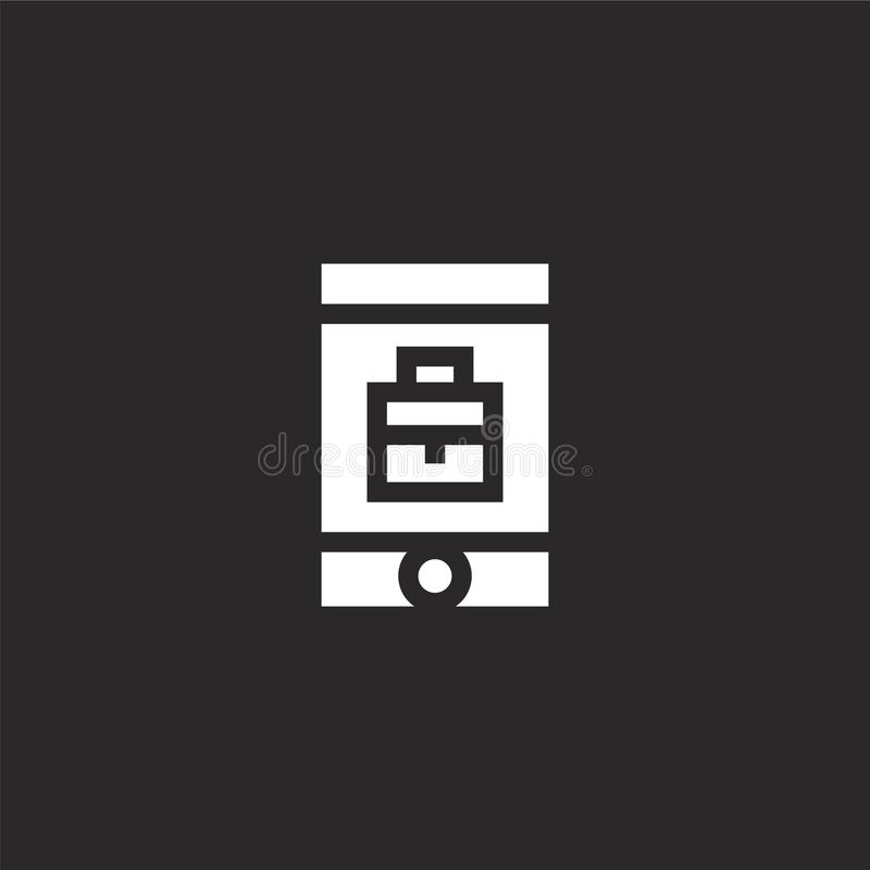 κινητό εικονίδιο Γεμισμένο κινητό εικονίδιο για το σχέδιο ιστοχώρου και κινητός, app ανάπτυξη κινητό εικονίδιο από τη γεμισμένη δ διανυσματική απεικόνιση