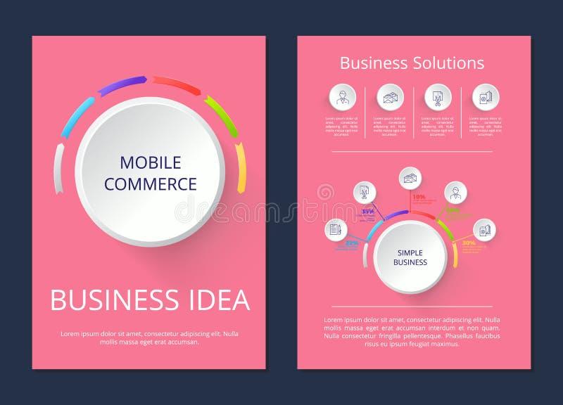 Κινητό εμπόριο, διανυσματική απεικόνιση επιχειρησιακής ιδέας διανυσματική απεικόνιση