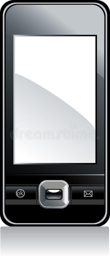 κινητό λευκό τηλεφωνικής  διανυσματική απεικόνιση
