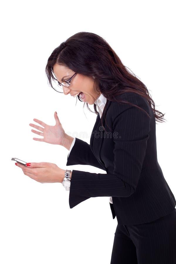 κινητό να φωνάξει επιχειρη&mu στοκ εικόνες