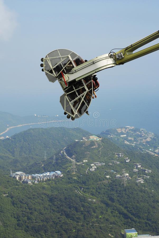 Κινητό παιχνίδι πάνω από το βουνό στοκ φωτογραφία με δικαίωμα ελεύθερης χρήσης