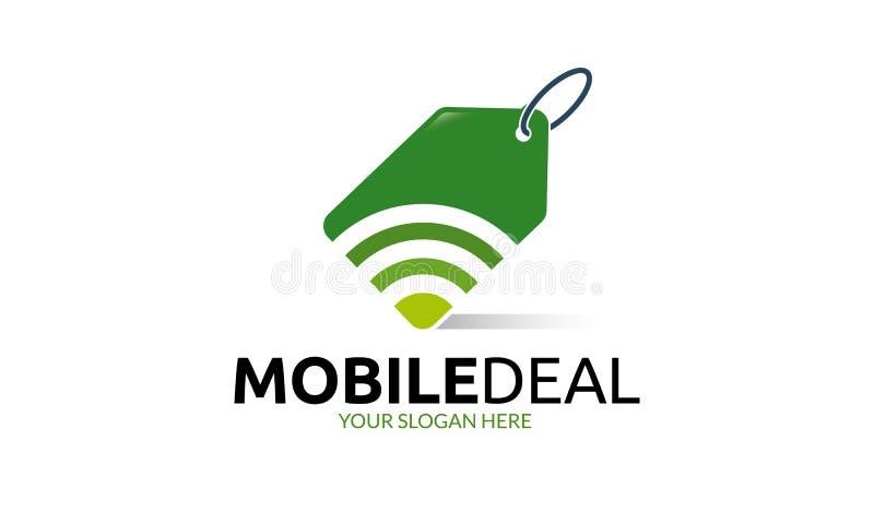 Κινητό πρότυπο λογότυπων διαπραγμάτευσης διανυσματική απεικόνιση