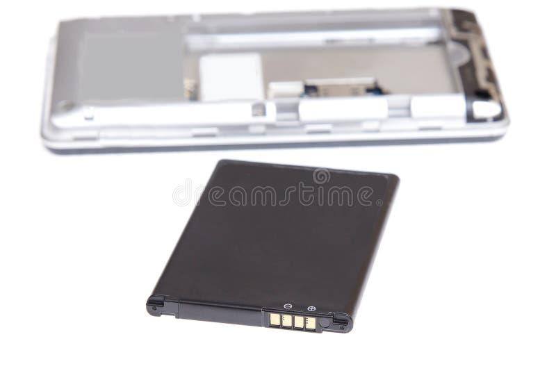 Κινητό στοιχείο μπαταριών τηλεφωνικών συσσωρευτών Smartphone στοκ εικόνα