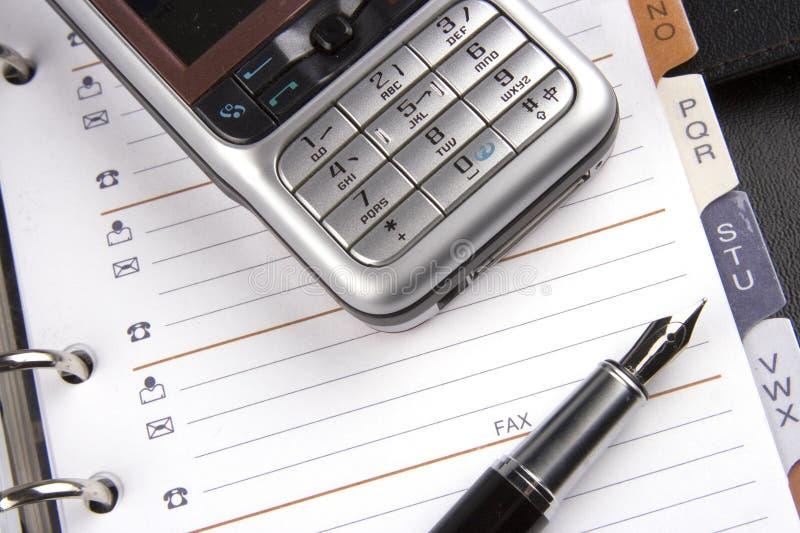 κινητό τηλέφωνο διοργανω&tau στοκ εικόνα