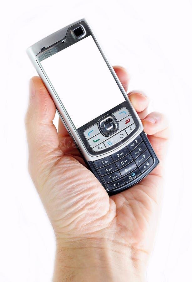 Download κινητό τηλέφωνο χεριών στοκ εικόνα. εικόνα από μηνύματα - 13187891