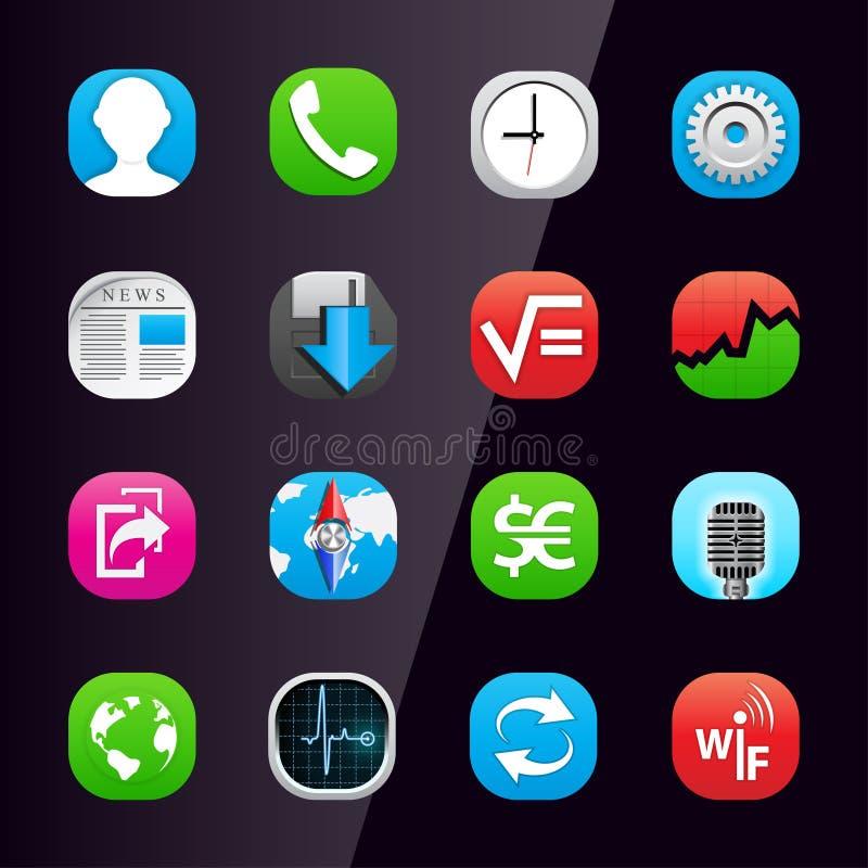 κινητό τηλέφωνο 2 εικονιδί&omeg απεικόνιση αποθεμάτων