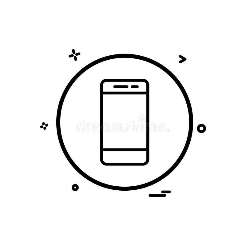 κινητό τηλεφωνικό βασικό εικονίδιο διανυσματικό σχέδιο ελεύθερη απεικόνιση δικαιώματος