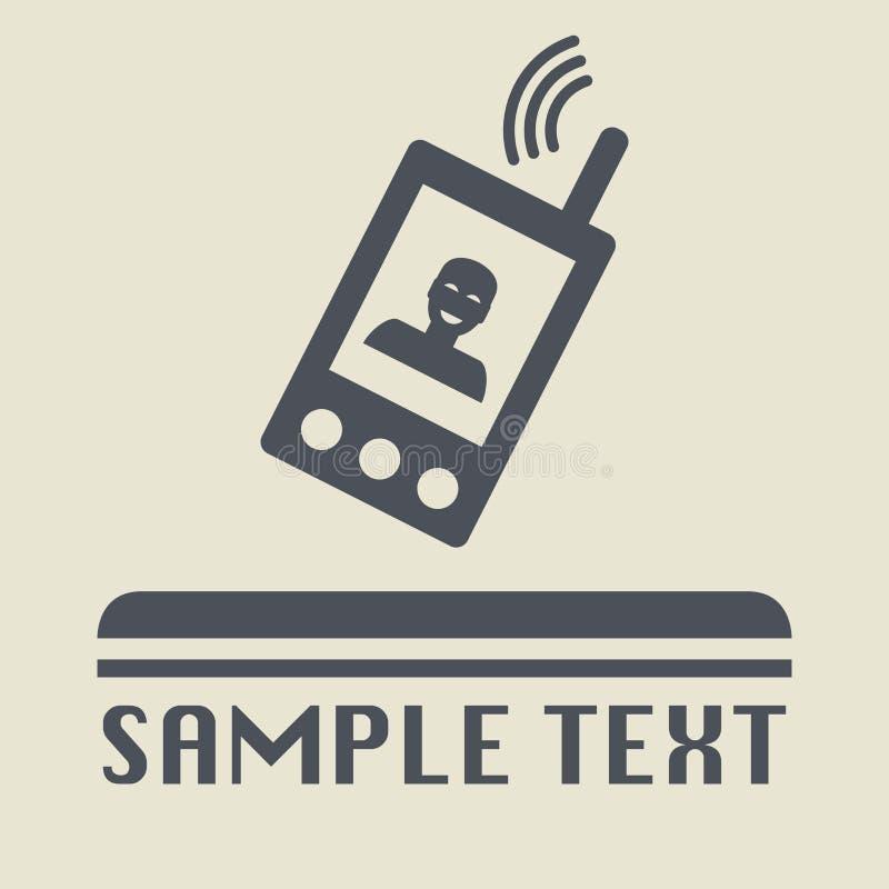 Κινητό τηλεφωνικό εικονίδιο ή σημάδι ελεύθερη απεικόνιση δικαιώματος