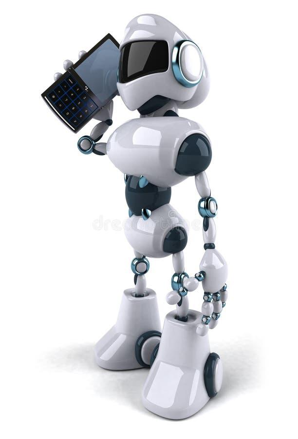 κινητό τηλεφωνικό ρομπότ απεικόνιση αποθεμάτων