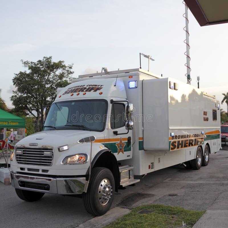 Κινητό φορτηγό εντολής στοκ εικόνες με δικαίωμα ελεύθερης χρήσης