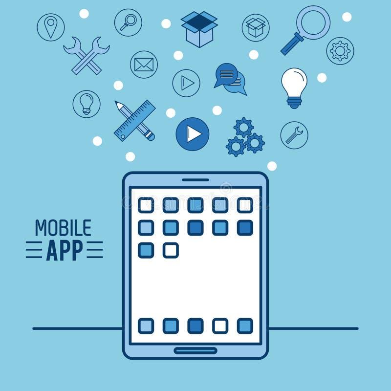 Κινητό app infographic διανυσματική απεικόνιση