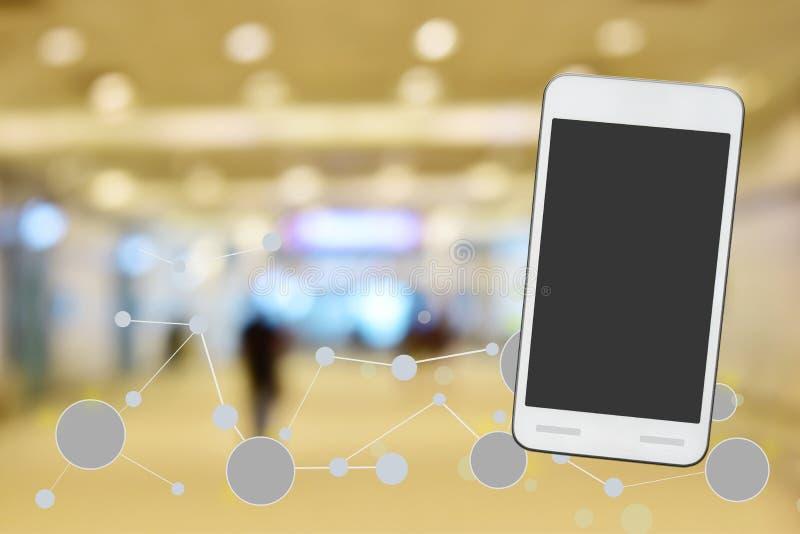 Κινητό smartphone στο άσπρο υπόβαθρο και την γκρίζα οθόνη που απομονώνονται να ψαλιδίσει την πορεία μέσα Σύνδεση στο Διαδίκτυο κα διανυσματική απεικόνιση