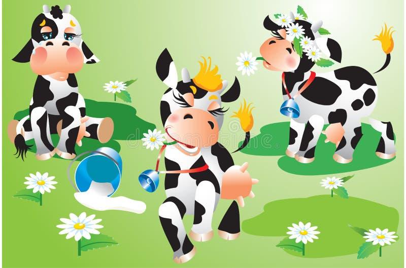 Κινούμενα σχέδια αγελάδων ελεύθερη απεικόνιση δικαιώματος