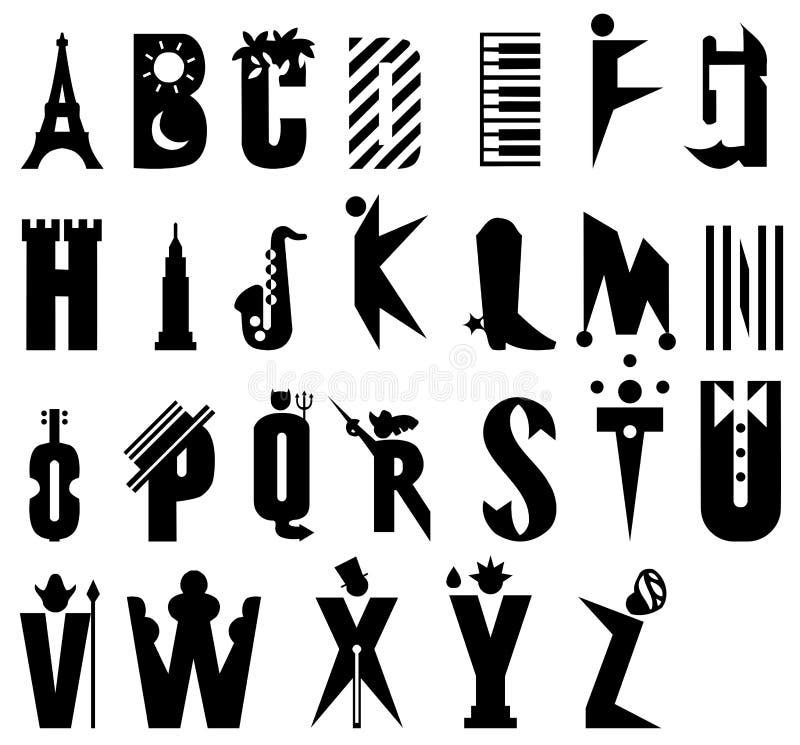 κινούμενα σχέδια αλφάβητ&omicro διανυσματική απεικόνιση