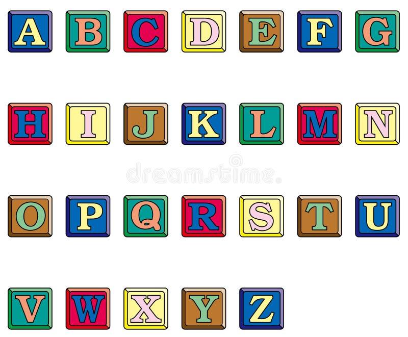 κινούμενα σχέδια αλφάβητ&omicro απεικόνιση αποθεμάτων