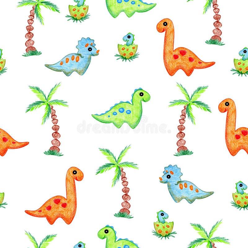 Κινούμενα σχέδια δεινοσαύρων ελεύθερη απεικόνιση δικαιώματος
