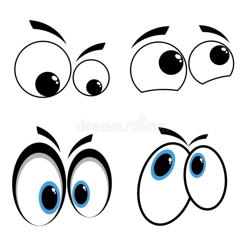 κινούμενα σχέδια ματιών στοκ φωτογραφία