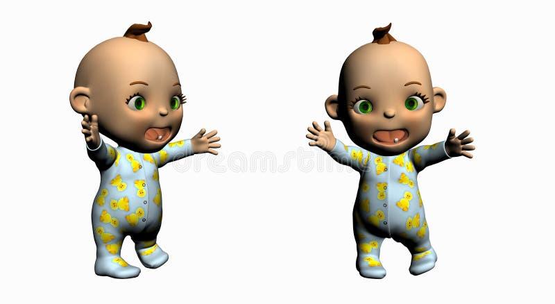 κινούμενα σχέδια μωρών απεικόνιση αποθεμάτων