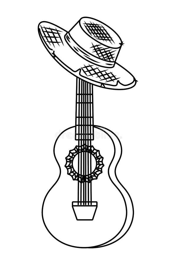 Κινούμενα σχέδια οργάνων μουσικής απεικόνιση αποθεμάτων