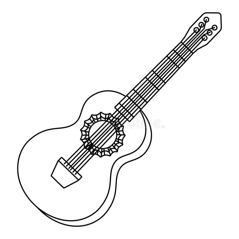 Κινούμενα σχέδια οργάνων μουσικής ελεύθερη απεικόνιση δικαιώματος