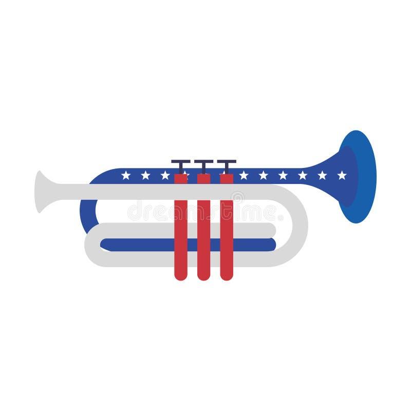 Κινούμενα σχέδια στις 4 Ιουλίου αμερικανικής ανεξαρτησίας διανυσματική απεικόνιση
