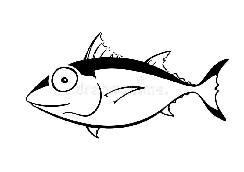 Κινούμενα σχέδια όπως τα ψάρια τόνου στο σχεδιάγραμμα στοκ εικόνες