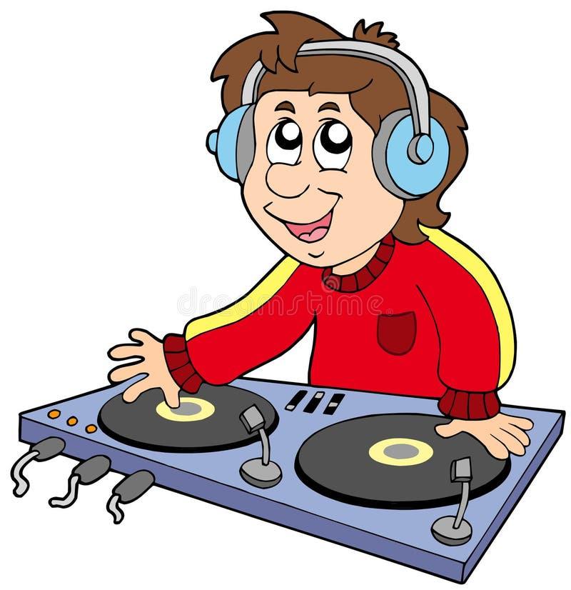 κινούμενα σχέδια DJ αγοριών ελεύθερη απεικόνιση δικαιώματος